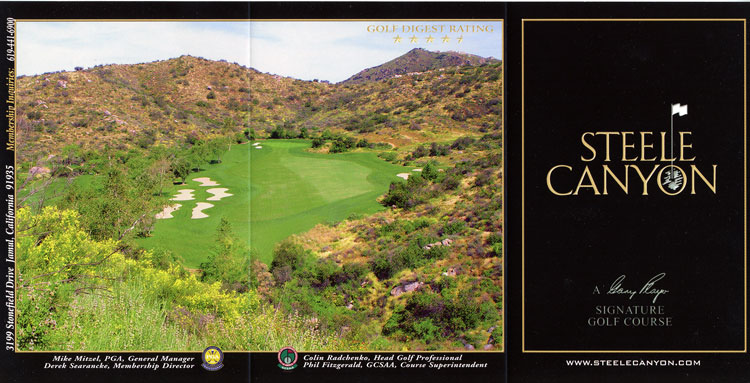 STEELE CANYON GOLF COURSE
